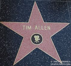Tim Allen's star is for Motion Pictures and is on 6834 Hollywood Blvd.