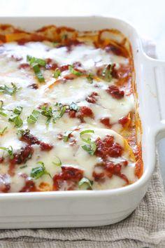 Noodle-less Butternut-Sausage Lasagna | Skinnytaste | Bloglovin'
