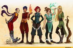 art,красивые картинки,avatar legend of korra,Аватар,Легенды об Аватарах, Avatar,фэндомы,w.i.t.c.h,crossover