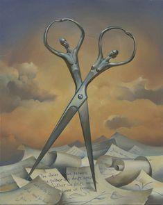 dancing scissors?       Vladimir Kush