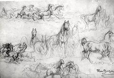 Antonio Pisanello | Heads of Horses by Antonio Pisanello