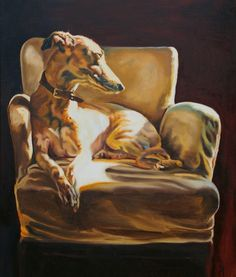 Dogs in Art at the StockBridge Gallery - Spotlight PRINT by Debbie Harris, SOLD OUT (http://www.dogsinart.com/spotlight-by-debbie-harris/)