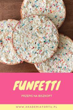 Jak zrobić biszkopt Funfetti Cereal, Cupcakes, Tarts, Breakfast, Cook, Recipes, Bakken, Polish, Mince Pies