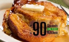 90 Second Boozy Baked French Toast