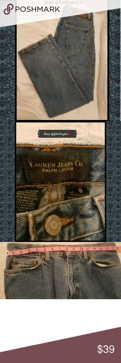 ⏬⏬ONE DAY SALE⏬🎉HP🎉Ralph Lauren Jeans sz 8 (EUC) 🙌🔵✴🔵 ONE DAY SALE!!🙌🔵✴🔵   🎉🎉HOST PICK 10-28-2017🎉🎉 🎉🎃BEST IN JEANS PARTY🎉🎃  Ladies Size 8 Lauren Jeans Co. by Ralph Lauren Jeans (EUC)  Waist approx 15.5 laying flat (see pic with tape measure above) and  Length approximately 29 inch inseam (see pics with tape measure above)  True Size 8 Ralph Lauren straight leg jeans EXCELLENT USED CONDITION (EUC)  🎉🎉HOST PICK 10-28-2017🎉🎉 🎉🎃BEST IN JEANS PARTY🎉🎃  Was $39 10-28 only…