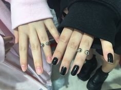 Image in nails/hair/makeup 🌸 collection by . You Are My Moon, Marceline And Bubblegum, Opposites Attract, Couple Aesthetic, Gothic Aesthetic, Aesthetic Black, Aesthetic Themes, My Vibe, Pastel Goth