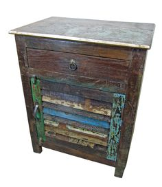 Reclaimed wood nightstand. My latest furniture purchase :)