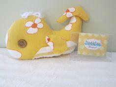 Winifred the Whale, Stuffed Animal, Stuffie, Pillow, Room Decor, One-of-a-kind, Handmade. $25.00, via Etsy.