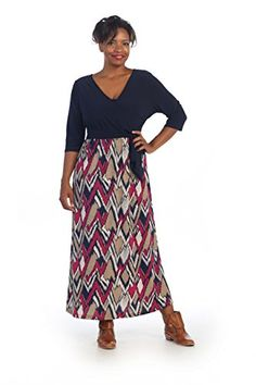 6ec475b9b9e3 Hadari Women s Plus Size Maxi Dress - http   18xl.com hadari