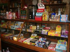 """old fashioned general store, candy counter - Google Search  """"Me and sister made regular candy runs to our very little hometown grocery store."""""""