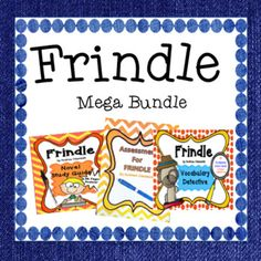 This Mega Bundle includes everything you need to teach the novel, Frindle, by Andrew Clements. Excellent for differentiated instruction! Bundle includes: 41 page Student Study Guide Comprehension Questions 20 page Chapter Vocabulary Words 40 Vocabulary Word Cards