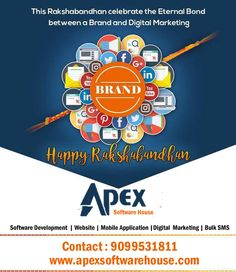 Apex Software House This holy thread you tie on my wrist will strengthen our bond more and fills my heart with more love for you. You are the best sis in the world! #HappyRakshaBandhan#2019 www.apexsoftwarehouse.com Mo : 9099531811 #BulkSMSService #BulkSMSProviderinBhavagar  #CheapestBulkSMSProvider #DigitalMarketingUsingBulkSMS #BulkSMSforBusiness #Bhavnagar#Gujarat#India Software House, Happy Rakshabandhan, Mobile Application, Software Development, Digital Marketing, Bond, India, Heart, Text Posts
