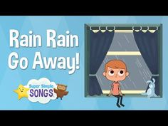 ▶ Rain Rain Go Away | Super Simple Songs | Sesame Street Nursery Rhyme Week - YouTube.The family end up playing musical instruments good for a group activity on a rainy day.(or anytime)