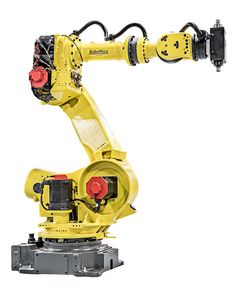 FANUC R series robots are some of the most flexible robots. They are capable of performing the largest variety of robotic applications. RobotWorx offers new and reconditioned FANUC R robots. Fanuc Robotics, Learn Robotics, R Robot, Robot Hand, Mechanical Arm, Mechanical Design, Robot Revolution, Robot Series, Robot Programming
