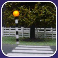 "A ""belisha beacon"" and a zebra crossing :)"