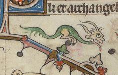 "Melibeus on Twitter: ""Cutest grinning dragon ever! @BLMedieval Add 36684 f. 154r https://t.co/GR33kTbfdd"""