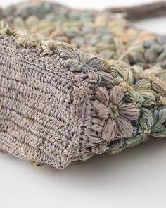 Cute Crochet, Knit Crochet, Crochet Hats, Fabric Bags, Felt Fabric, Flower Bag, Crochet Purses, Artisanal, Handmade Bags