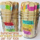 Washi Tape Summer Boredom Buster Jars
