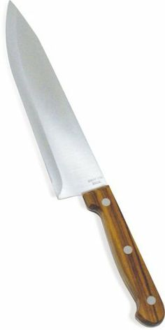 Imusa 8 Inch Chef Knife by Imusa USA. $9.01. One-piece. Wash by hand. Oiled Rosewood handles are extremely durable. This Imusa check knife is stamped - hardened and tempered high-carbon stainless steel in an 8 inch size.  It has an oiled rosewood handle.