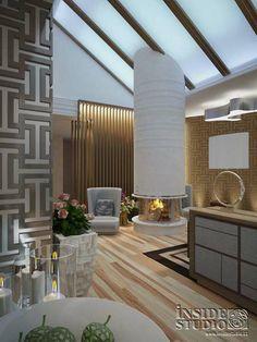 Интерьер загородного  дома. Дизайн проект гостиной.  Архитектор Ирина Рихтер  INSIDE-STUDIO Prague Family House, Interior, Studio