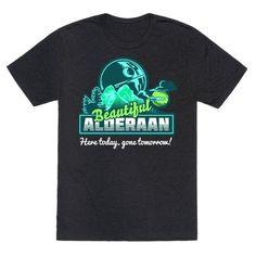 74f5bb291a6599 Beautiful Alderaan Vacation T-Shirt