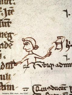 """""""pointing from the nota to the text #marginaliamonday  Amiens Bm ms 0347"""""""