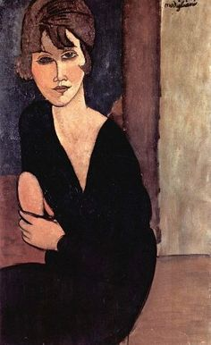 Portrait of Madame Reynouard, Amedeo Modigliani. Oil on canvas, private collection. Italian artist Amedeo Modigliani was born today in Amedeo Modigliani, Modigliani Portraits, Modigliani Paintings, Italian Painters, Art Moderne, Paintings I Love, Art For Art Sake, Fine Art, Renoir
