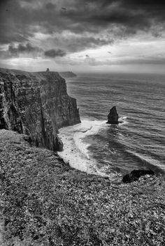 Storm Clouds Over The Cliffs of Moher www.davidpolandpotography.com Cliffs Of Moher, Storm Clouds, Ireland, Photo Galleries, Gallery, Places, Nature, Travel, Naturaleza