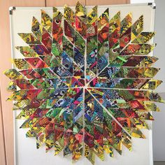 Quilts and Boxes: African Diamonds Fabric Fun African Diamonds, Out Of My League, Big Flowers, African Fabric, Fabric Scraps, Diamond Shapes, Wall Design, Making Out, Fiber Art