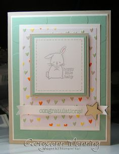 With Love, Baby Card, Stampin' Up, Stamping, Handmade, Project Life, Little Moments