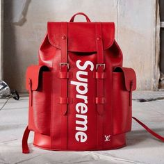 Louis Vuitton x Supreme Christopher Backpack Epi PM Red 0aeafe190e3d