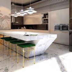 Modern kitchen design 😱 What are your thoughts on it? Kitchen Room Design, Luxury Kitchen Design, Kitchen Cabinet Design, Home Decor Kitchen, Kitchen Furniture, Kitchen Interior, Home Interior Design, Küchen Design, House Design