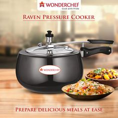 Don't crumble under the pressure of cooking! Be smart and rely on Wonderchef Raven Pressure Cooker for your daily cooking needs. #WomenPride