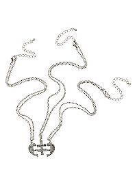 267 best jewelry accessories 3 images costumes jewelry choker Ban Aviator Ray hottopic lovesick best friends forever heart puzzle necklace set friends forever necklace