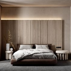 HOUSE IN THE POLAND on Behance Home Room Design, Bed Design, Design Bedroom, Small Room Bedroom, Modern Bedroom, Master Bedroom, Contemporary Interior, Modern Interior Design, Home Remodeling Diy
