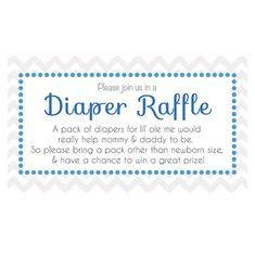 Free Navy Blue Striped Baby Elephant Diaper Raffle Tickets  Baby