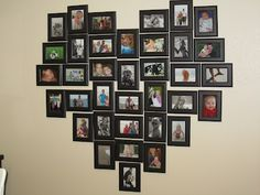 Another heart photo collage. This one uses 34 portrait photos and ...