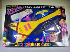 @ NIB NEW 1987 VINTAGE BARBIE AND THE ROCKERS GUITAR ROCK CONCERT PLAYSET  #BARBIE