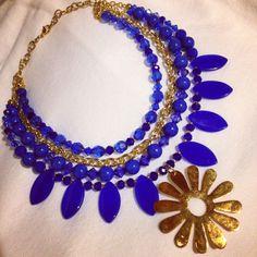 Collar azul rey by Luz Marina Valero