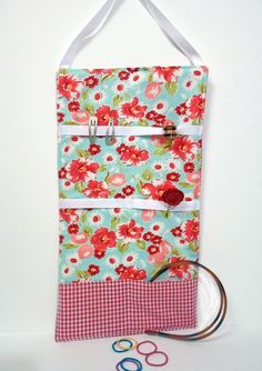 Hair Accessory Organizer -- Floral & Gingham by artisticsouldesigns, $15.00