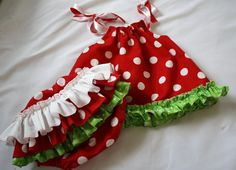 Baby Pillowcase Dress and ruffle bloomers Strawberry Patch  Made to Order 0-3 to 2T on Etsy, $45.00 This seller makes the cutest pillow case dresses!!!! Great quality & a very friendly seller & that's my little girl modeling her dress ; )