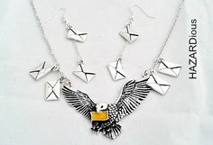 Harry potter necklace hedwig letters necklace & by HAZARDious