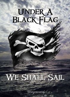 """Pirates ~ """"Under a Black Flag, We Shall Sail. Pirate Art, Pirate Skull, Pirate Life, Pirate Ships, Pirate Flags, Pirate Crafts, Captain Jack Sparrow, Pirate Quotes, Black Sails"""