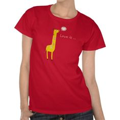 Lovely Cute Giraffe Thinking What Love is Tees