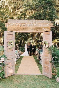 Wedding Decoration Ideas - This is a cool idea of using an old door, refinishing/stressting it and making it the entryway for ceremony seating or reception! Description from pinterest.com. I searched for this on bing.com/images