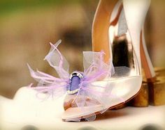 Shoe Clips Amethyst, Sweet Lilac, Lavender / Ivory / White / Something Blue Bridal Wear Holidays Easter Gift Dainty Couture Fashion Bride