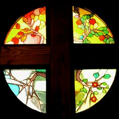 The four seasons, St Augustine's Church, New City, NY. Stained Glass Designs, Stained Glass Projects, Window Ideas, New City, Stained Glass Windows, Four Seasons, My Design, Environment, Stained Glass
