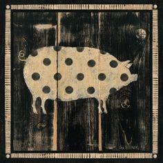 Polka Pig I Prints by Lisa Hilliker at AllPosters.com