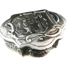 1770 Solid Silver Dutch, Amsterdam Snuff Box. Extremely rare. Superb Condition