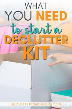 Make decluttering easier with a kit of decluttering tools ready to go when you are. My tried and true list of go to items perfect for a decluttering kit. Declutter Your Home, Organizing Your Home, Organizing Tools, Container Organization, Tool Organization, My Best Secret, Make Money Online, How To Make Money, Getting Rid Of Clutter